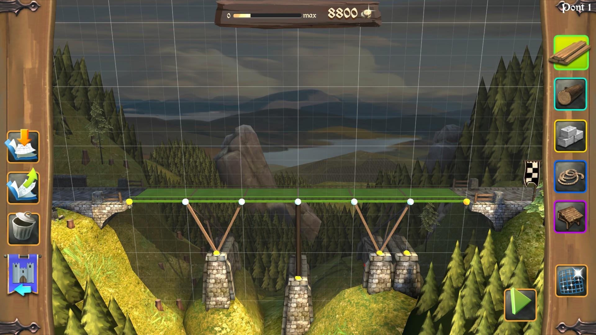 bridge constructor medieval game side story. Black Bedroom Furniture Sets. Home Design Ideas