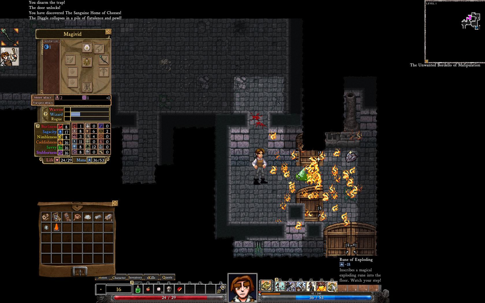 Dungeons of dredmor sur steam game side story for Bureau 13 rpg
