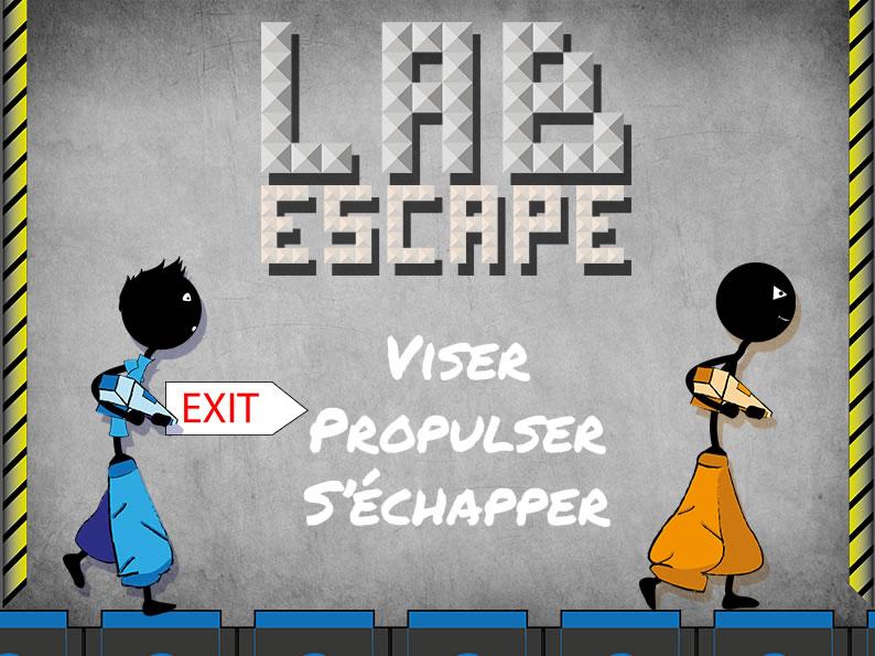 Lab escape slogan