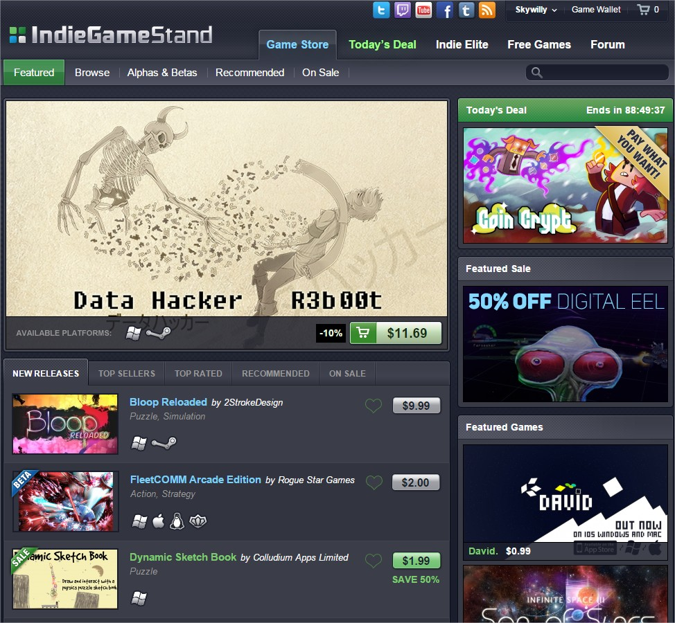 Download the Best Indie Games - The IndieGameStand Store - Google Chrome