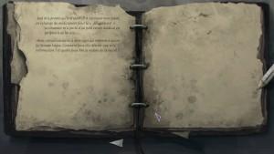 Michael garde des notes dans un journal afin d'aider votre progression.
