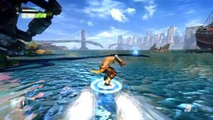 Le gameplay se varie notamment lors de phases où Monkey utilise son nuage pour glisser sur l'eau ou avancer très rapidement.