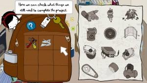 Vous pouvez visualiser les pièces manquantes à la construction de MechaNika depuis l'inventaire.