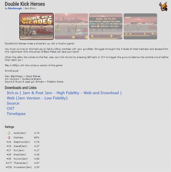 Double Kick Heroes by blackmagic Ludum Dare 34 Ludum Dare - Google Chrome