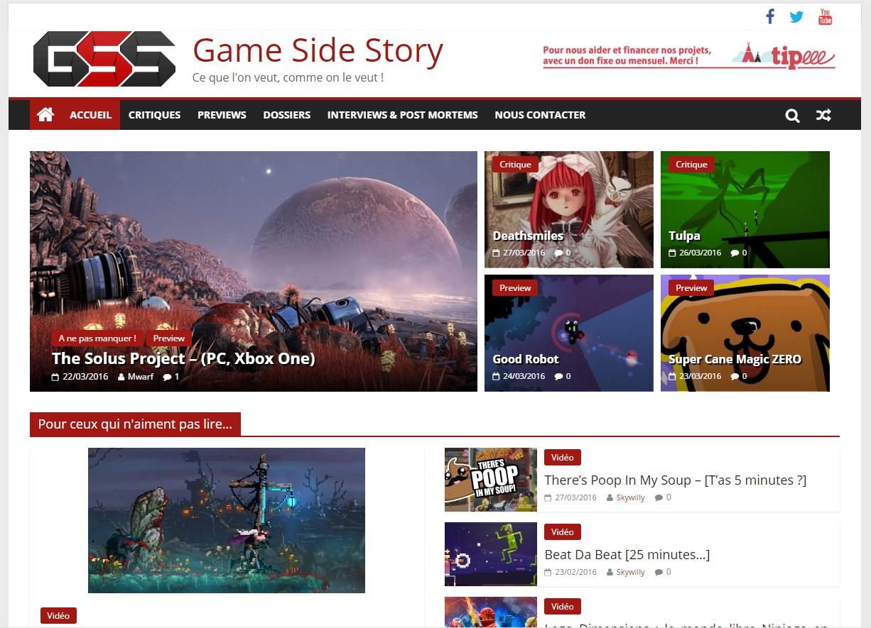 La V3 de Game Side Story : le 28 mars 2016