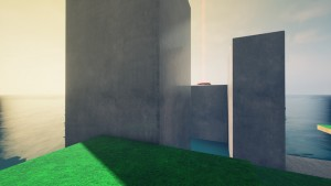 Il est possible de rejoindre l'interrupteur en face avec des wall jumps bien cadrés.