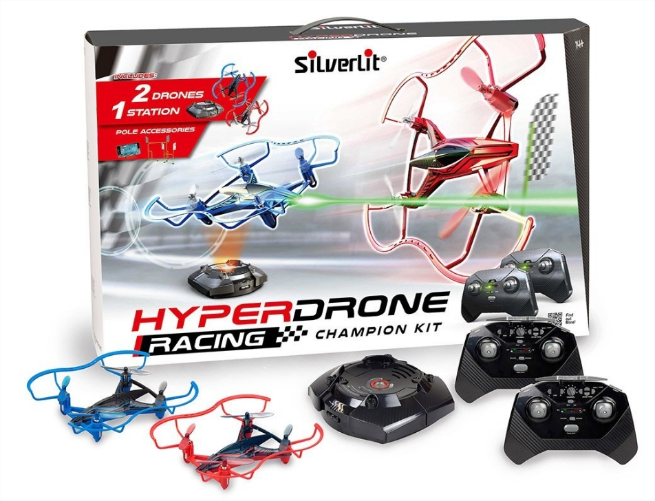 Silverlit Drone de course 84780 4 Canaux Gyro Hyperdrone Single Pack